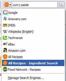 ingredient search