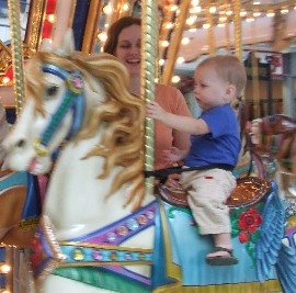 Hayden on the carousel