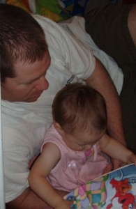 daddy reading to rachel